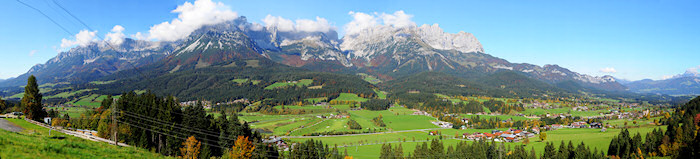 Panorama in Austrian Alps