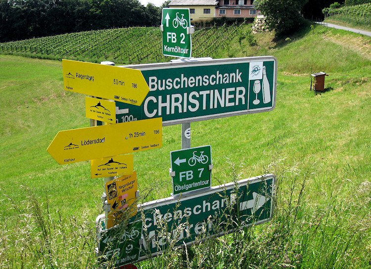 Wine-route signposts