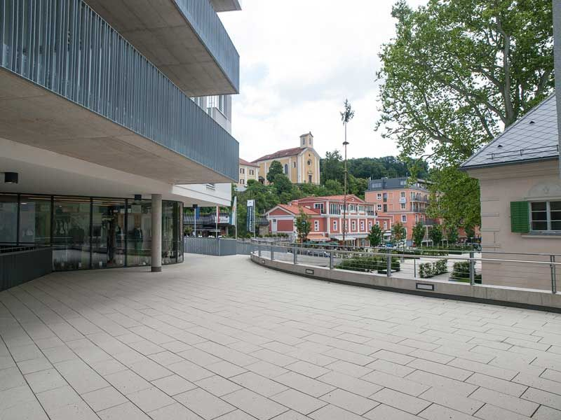Newly developed pedestrian zone