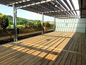Large deck with pleasant view
